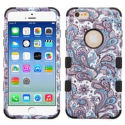 Insten Tuff European Flowers Hard Hybrid Rugged Shockproof Silicone Case For Apple iPhone 6/6s - Purple/Black (2161924)