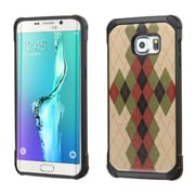 Insten Argyle Hard Dual Layer Silicone Case For Samsung Galaxy S6 Edge Plus - Green/Black (2162298)