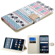Insten Jumping Fishes Book-Style Leather Fabric Cover Case w/stand/card holder/Diamond For LG G Stylo - Blue/Pink (2162889)