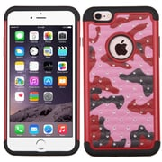 Insten Camouflage Hard Dual Layer Rubberized Silicone Cover Case For Apple iPhone 6 Plus/6s Plus - Hot Pink/Black (2165021)