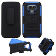 Insten Hard Dual Layer Plastic Silicone Cover Case w/stand/Holster For LG G5 - Black/Blue (2208204)