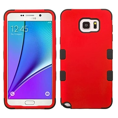 Insten Hard Hybrid Rugged Shockproof Rubber Coated Silicone Cover Case For Samsung Galaxy Note 5 - Red/Black (2148370)