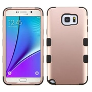 Insten Tuff Hard Dual Layer Rubber Silicone Cover Case For Samsung Galaxy Note 5 - Rose Gold/Black (2178106)