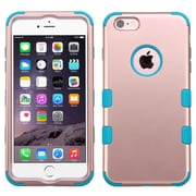 """Insten Hybrid 3-Layer Hard PC Outer/Silicone Inner Case for iPhone 6s Plus / 6 Plus 5.5"""" - Rose Gold/Teal (2181337)"""
