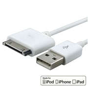 Insten MFI USB 2-in-1 Sync Cable For Apple iPod Touch 4th/ iPhone 4S 4 / iPad 2 3 3rd (MFI-APRPDCB01), White (372920)