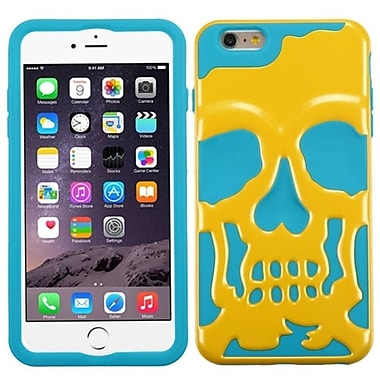 Insten Skullcap Hard Hybrid Rugged Shockproof Case For iPhone 6 Plus / 6s Plus - Yellow/Blue (2011534)