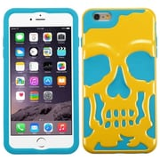 Insten Skullcap Hard Hybrid Rugged Shockproof Case For iPhone 6 Plus / 6s Plus - Yellow/Blue (2011534)