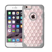 Insten Hard Crystal TPU Case For Apple iPhone 6 Plus/6s Plus - Clear/Gray (2181420)