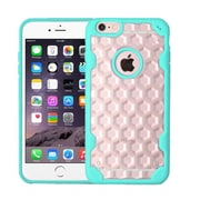 Insten Hard Crystal TPU Cover Case For Apple iPhone 6 Plus/6s Plus - Clear/Teal (2181423)