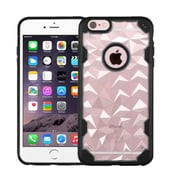 Insten Hard Crystal TPU Cover Case For Apple iPhone 6 Plus/6s Plus - Clear/Black (2181427)