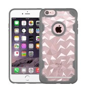 Insten Hard Crystal TPU Case For Apple iPhone 6 Plus/6s Plus - Clear/Gray (2181428)