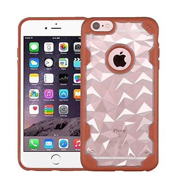 Insten Hard Crystal TPU Case For Apple iPhone 6 Plus/6s Plus - Clear/Orange (2181432)