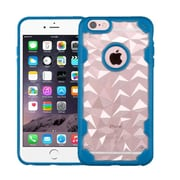 Insten Hard Crystal TPU Case For Apple iPhone 6 Plus/6s Plus - Clear/Blue (2181433)
