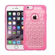 Insten Crystal Clear Honeycomb TPU Bumper Shockproof Slim Case For iPhone 6S Plus / 6 Plus - Rose Gold/Hot Pink (2185465)