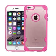 Insten Hard TPU Case For Apple iPhone 6 Plus/6s Plus - Clear/Hot Pink (2185470)