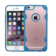Insten Transparent Crystal Back Panel Cover Case with TPU Bumper For iPhone 6s Plus / 6 Plus - Dark Blue/Orange (2185473)