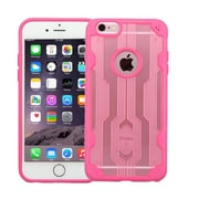 Insten Crystal Clear Transparent Back Panel with TPU Bumper Slim Case For iPhone 6S Plus / 6 Plus - Rose Gold/Hot Pink (2185476)