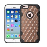 Insten Honeycomb Hard Rubber Silicone Case For Apple iPhone 6/6s - Smoke/Black (2205122)