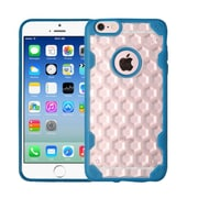 Insten Honeycomb Hard Silicone Cover Case For Apple iPhone 6/6s - Clear/Blue (2205128)