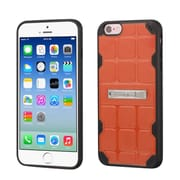Insten Hard TPU Case w/stand For Apple iPhone 6/6s - Orange/Black (2192770)