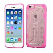 Insten Hard Crystal TPU Case For Apple iPhone 6/6s - Clear/Hot Pink (2195645)