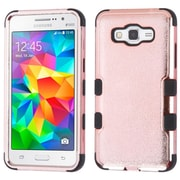 Insten Tuff Hard Hybrid Rubberized Silicone Case For Samsung Galaxy Grand Prime - Rose Gold/Black (2205013)