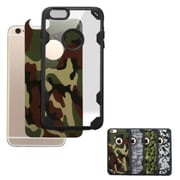Insten Camouflage Hard Crystal Silicone Cover Case For Apple iPhone 6 Plus/6s Plus - Clear/Black (2185122)