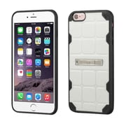 Insten Hard TPU Case w/stand For Apple iPhone 6 Plus/6s Plus - White/Black (2189652)