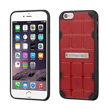 Insten Hard TPU Case w/stand For Apple iPhone 6 Plus/6s Plus - Red/Black (2189658)