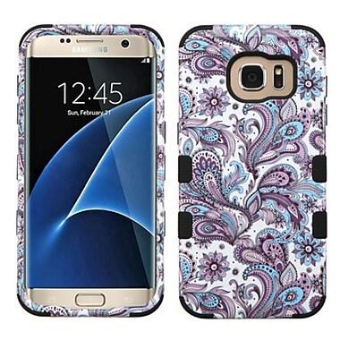 Insten Tuff European Flowers Hard Dual Layer Rubberized Silicone Case For Samsung Galaxy S7 Edge - Purple/White (2208081)
