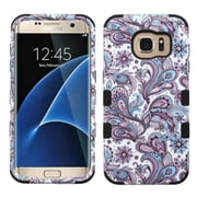 Insten Tuff European Flowers Hard Dual Layer Rubberized Silicone Case For Samsung Galaxy S7 Edge - Purple/White (2208081)