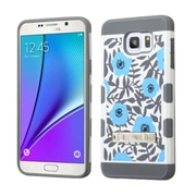 Insten Flowers Hard TPU Case w/stand For Samsung Galaxy Note 5 - Blue/White (2166821)