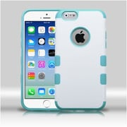 "Insten Cream White/Tropical Teal Green TUFF Merge Hybrid Rugged Hard Shockproof Case for iPhone 6S 6 4.7"" (1938411)"