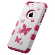 Insten Tuff Merge Butterfly Dancing Hard Rubberized Cover Case For Apple iPhone 6 - Pink/White (1952456)
