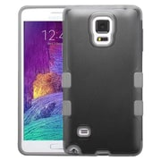 Insten Tuff Hard Hybrid Shockproof Rubber Coated Silicone Cover Case For Samsung Galaxy Note 4 - Black/Gray (2045859)