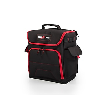 Krane Small Cargo Bag, 2.5lbs, Black with Red (AMG CBF)