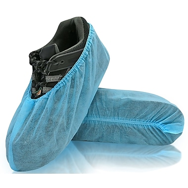 BlueMed Wave Shoe Covers, Universal, Blue, in Easy-Open Bags of 300/Case