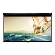 "Hamilton Buhl™ WS-W59105BK Manual Pull Down HDTV Projector Screen, 120"""