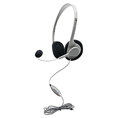 Hamilton Buhl™ HA2USBSM Personal USB Headphone with Microphone, Gray