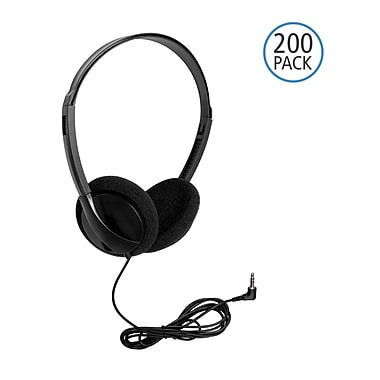 Hamilton Buhl™ PER/200 Personal Economical On-Ear Stereo Headphone, Black