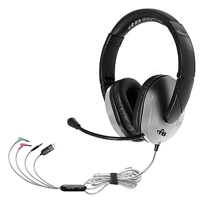 Hamilton Buhl™ Trios Plus T18LG4ESV Personal Lightweight On-Ear Headset with 3 Plugs, Black