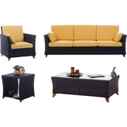 All Things Cedar 4 Piece Deep Seating Group w/ Cushions; Yellow