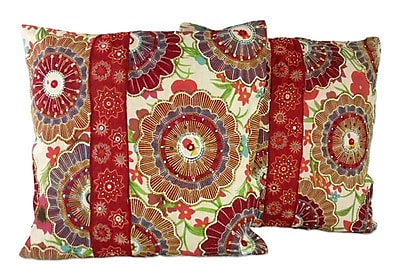 Novica Floral Explosion Beaded Pillow Cover (Set of 2)