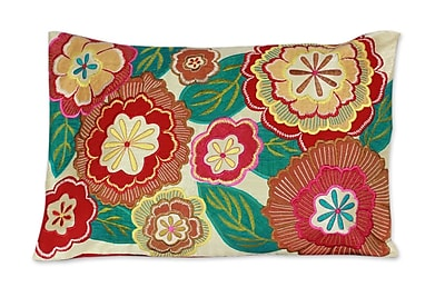 Novica Festival of Flowers Floral Patterned Pillow Cover