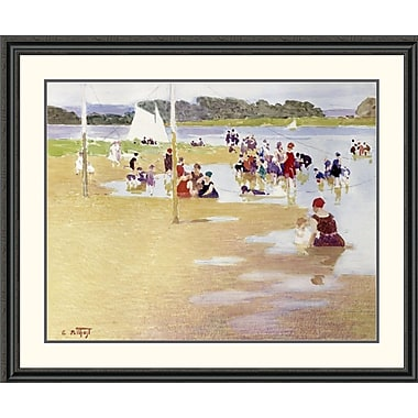 Global Gallery Bathers by Edward Henry Potthast Framed Painting Print; 38.22'' H x 46'' W x 1.5'' D