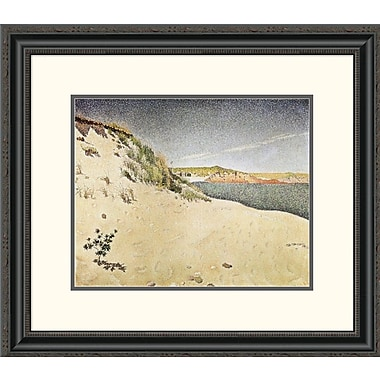 Global Gallery Sandy Ocean Beach by Paul Signac Framed Painting Print; 22.85'' H x 26'' W x 1.5'' D