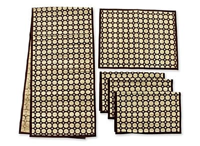 Novica 5 Piece Bamboo Reed Table Runner and Placemat Set