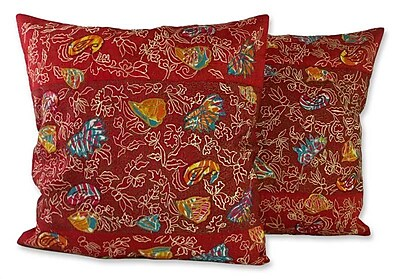 Novica Butterfly Muse Pillow Cover (Set of 2)