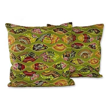 Novica Meeting Eyes Handmade Patterned Pillow Cover (Set of 2)