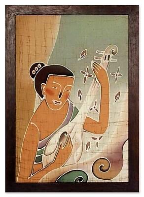 Novica Lanna Melodies Hand crafted Batik Cotton by Alaya Cholprasertsuk Graphic Art